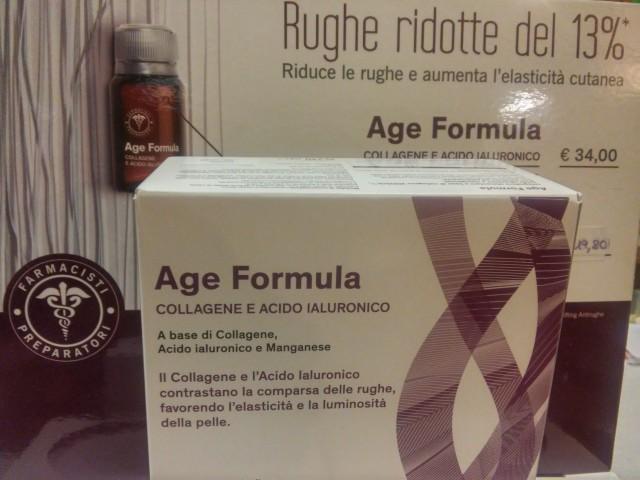 AGE FORMULA, l'integratore antirughe